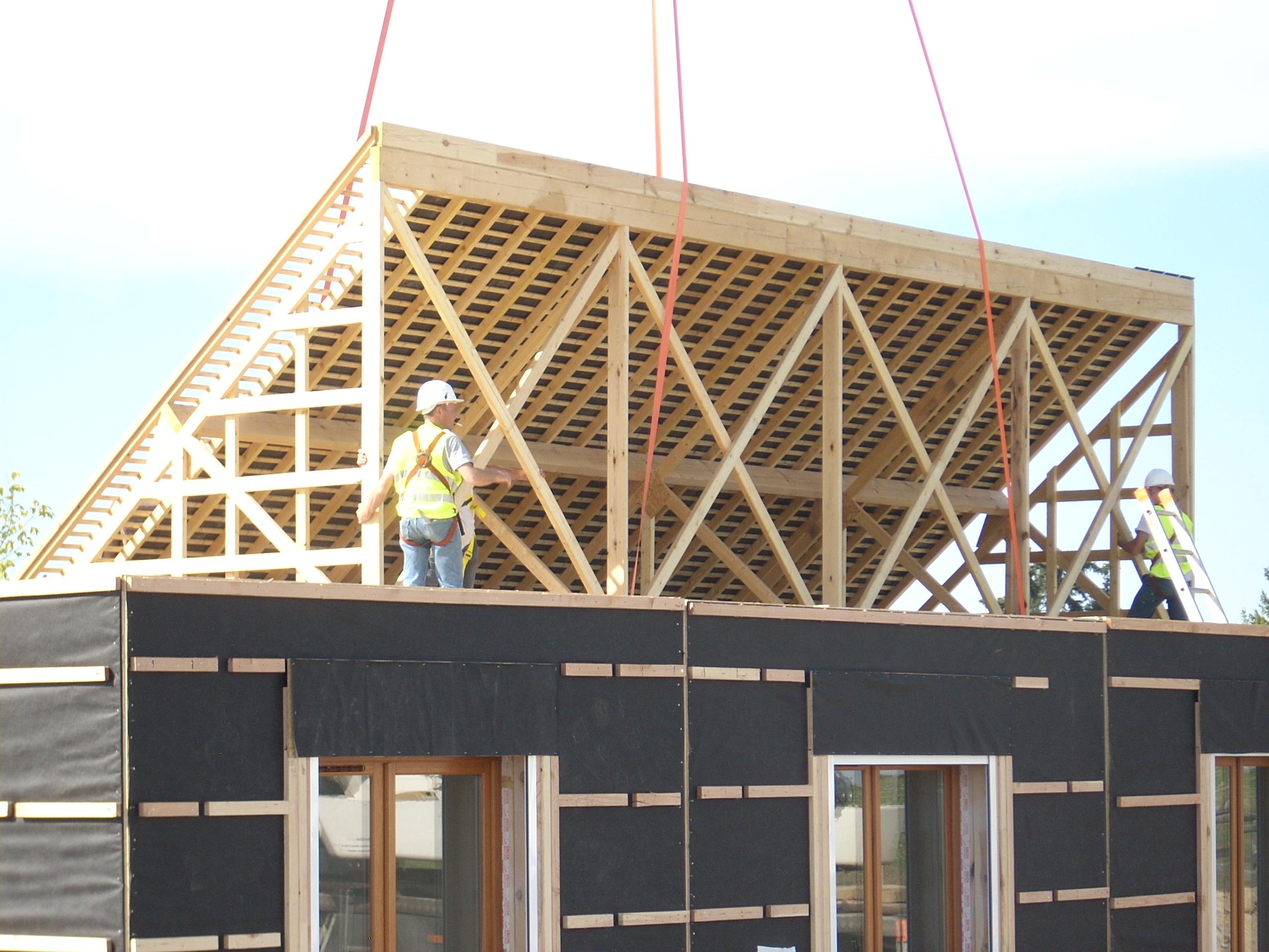 Maison ossature bois agrandissement extension auto construction kit ossature bois - Maison modulaire ...